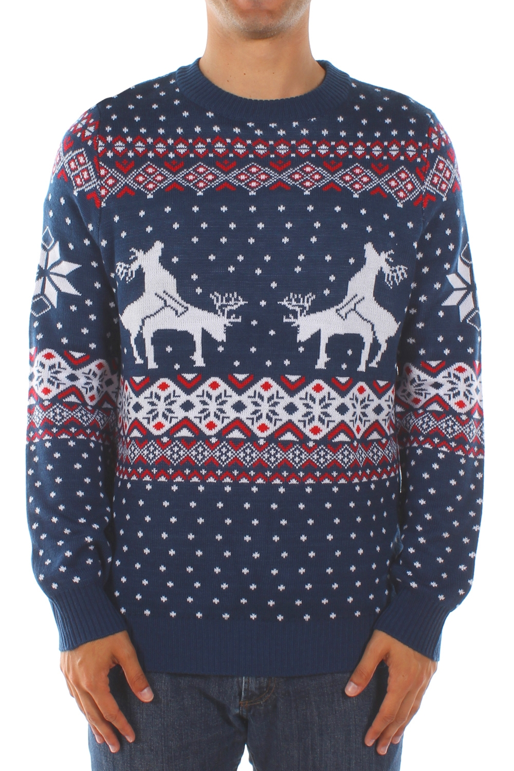 Reindeer Climax Ugly Christmas Sweater